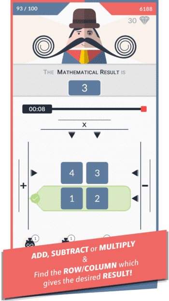 Mr. Mustachio #100 Rounds AppStore Screenshot 1