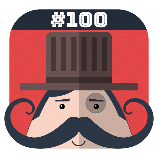 Mr. Mustachio #100 Rounds Icon