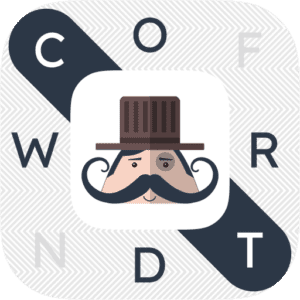 Mr. Mustachio : Word Search App Icon